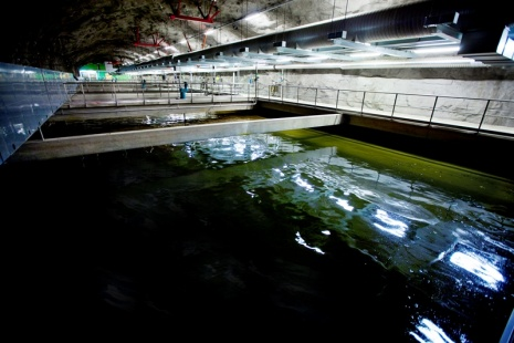 Inside the Käppala wastewater treatment plant. Photo: Björn Leijon