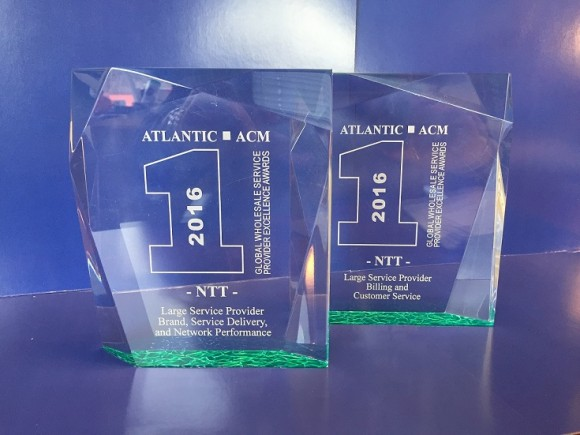 NTT Communications Corporation recognized by ATLANTIC-ACM with 2016 Global Wholesale Service Provider Excellence Awards