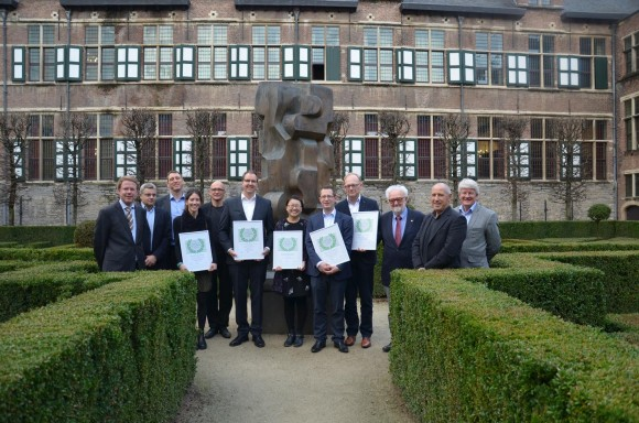 The Winners of the 2016 PCV2 Research Award with the Members of the Review Board and Representatives of Boehringer Ingelheim.