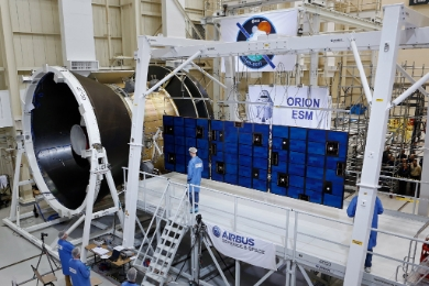 Orion spacecraft's solar array © Airbus Defence and Space