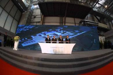 Photo caption from left to right: Duan Chunhua, Vice Mayor Tianjin; Lin Nianxiu,Vice Mayor NDRC; Fabrice Brégier, Airbus President and CEO; Lin Zuoming, Chairman of AVIC © Airbus