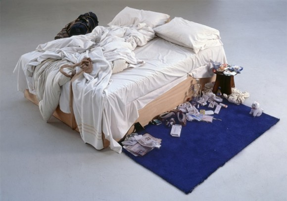 Tracey Emin My Bed 1998 © Tracey Emin. All rights reserved, DACS 2014 Photo credit: Courtesy The Saatchi Gallery, London / Photograph by Prudence Cuming Associates Ltd