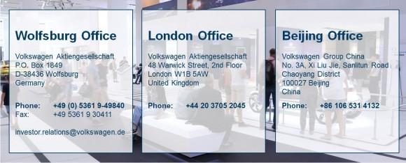 Volkswagen Aktiengesellschaft contact