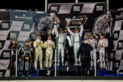 THE QUALIFYING RACE PODIUM