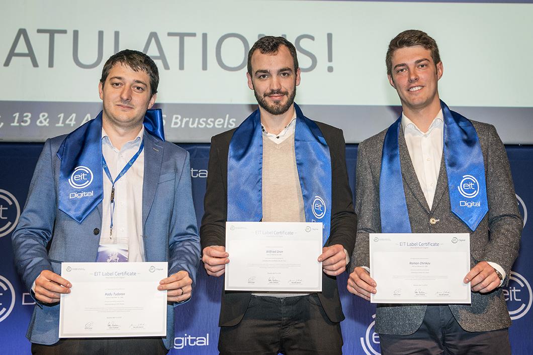 EIT Digital doctorates – Radu Tudoran, Wilfried Dron, Roman