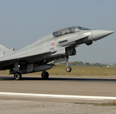 Finmeccanica demonstration: Italian Air Force Typhoon was able to identify friendly NATO vehicles during a simulated mission
