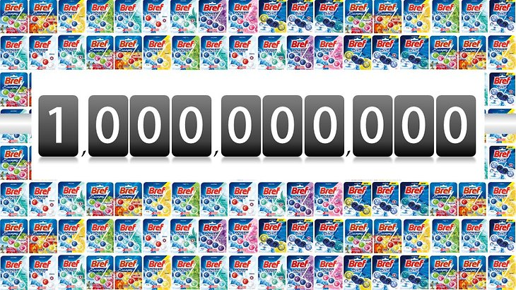 Henkel reports 1,000,000,000 packs of the WC rimblock produced since its launch in 2010