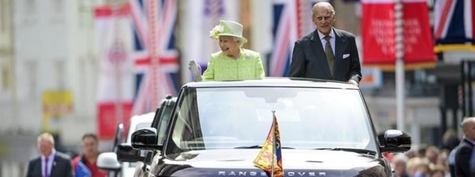 Jaguar Land Rover short film captures Her Majesty's drive through the streets of Windsor