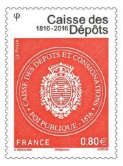 Le timbre commémoratif gommé et gaufré imprimé en taille-douce 1 million d'exemplaires