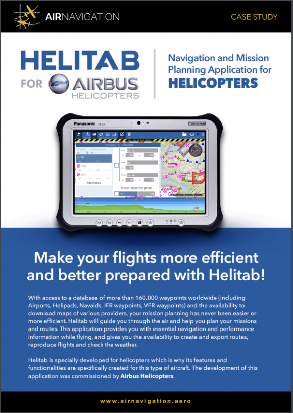 HELITAB – Navigation and mission planning application for helicopters