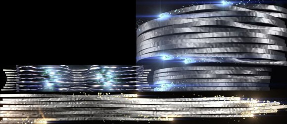 Impressive 3D video mapping light show at the Audi Forum