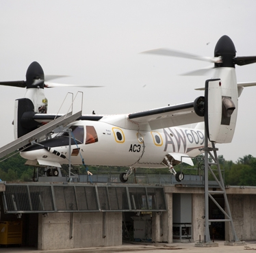 Leonardo-Finmeccanica: the 3rd prototype (A/C3) of the AgustaWestland AW609 TiltRotor completed its first ground run