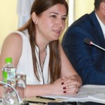 Nigina Bakhrieva of the Nota Bene NGO and one of the moderators, speaking at an annual human rights meeting in Tajikistan, Dushanbe, 30 May 2016. (OSCE/Munira Shoinbekova)