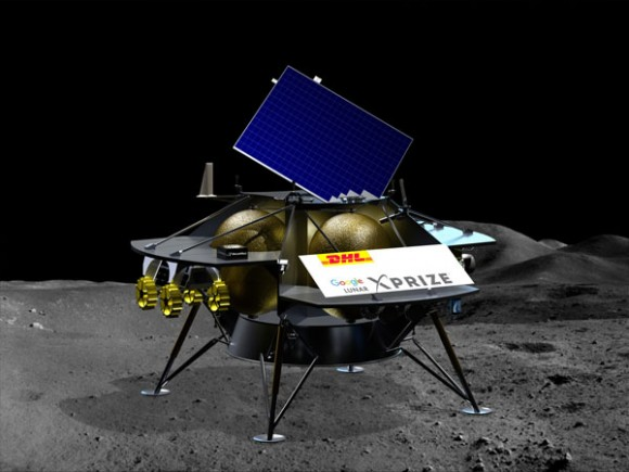DHL making sure that all materials for the new lunar lander as well as the 'space freight' will arrive safe and on time to begin their journey to the Moon.