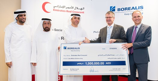 Borealis announces donation of AED 1 million to the Emirates Red Crescent to support refugee relief efforts in Lebanon, Jordan and Iraq