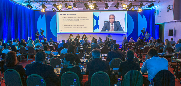 Jean-Paul Philippot re-elected for fifth consecutive term as President of the European Broadcasting Union