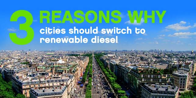 Neste: Vehicles that use renewable diesel cause considerably less carbon emissions than fossil diesel