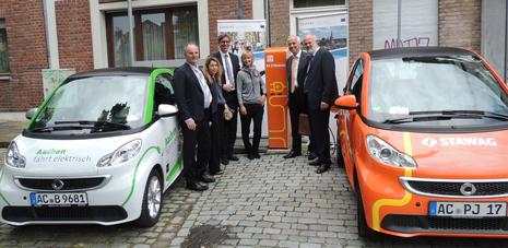 STAWAG und Stadt Aachen nehmen die 28. Ladesäule in Aachen in Betrieb