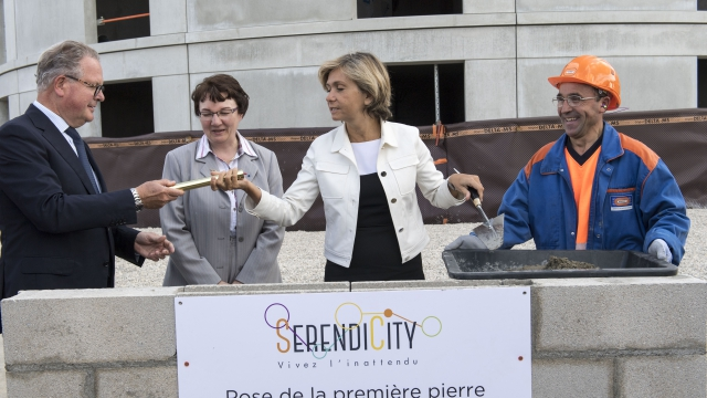 The foundation stone of the largest student housing development currently under construction in France laid at a ceremony on May 25, 2016