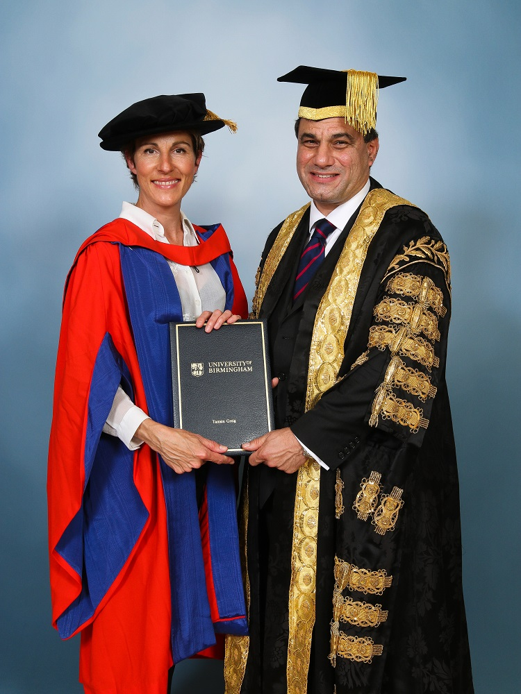 British actor Tamsin Greig received an honorary degree from the University of Birmingham