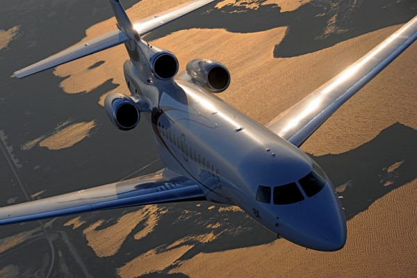 Dassault Aviation's new Falcon 8X received approval from the US Federal Aviation Administration