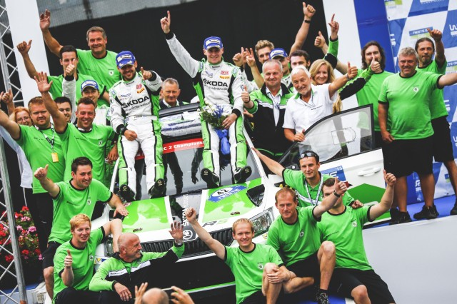 Five recent ŠKODA wins in a row in the FIA World Rally Championship (WRC 2)