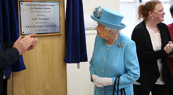 Her Majesty The Queen officially opened the Leverhulme Research Centre for Forensic Science at the University of Dundee