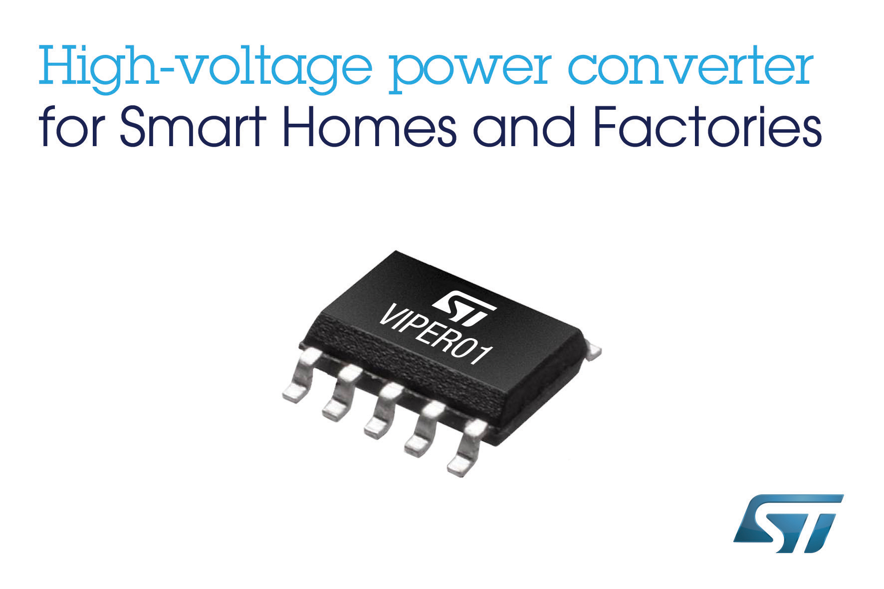 STMicroelectronics unveils high-voltage power converter for ultra-low-consumption, simple, and cost-effective SMPS (Switched-Mode Power Supply) with 5V output voltage