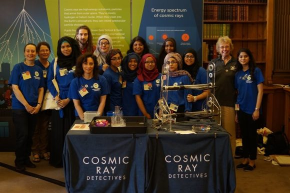 Bordesley Green Girls School and University of Birmingham particle physicist Professor Cristina Lazzeroni discovered bright sparks via the HiSPARC project