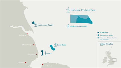 DONG Energy: Hornsea Project Two offshore wind farm granted development consent