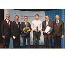 """Die Industrie- und Handelskammer Neubrandenburg zeichnet EDEKA Handelsgesellschaft Nord mbH in Malchow als """"TOP Ausbildungsbetrieb 2016"""" aus"""