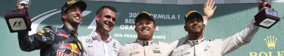 Formel 1 - MERCEDES AMG PETRONAS, Großer Preis von Belgien 2016. Lewis Hamilton, Nico Rosberg ; Formula One - MERCEDES AMG PETRONAS, Belgian GP 2016. Lewis Hamilton, Nico Rosberg;
