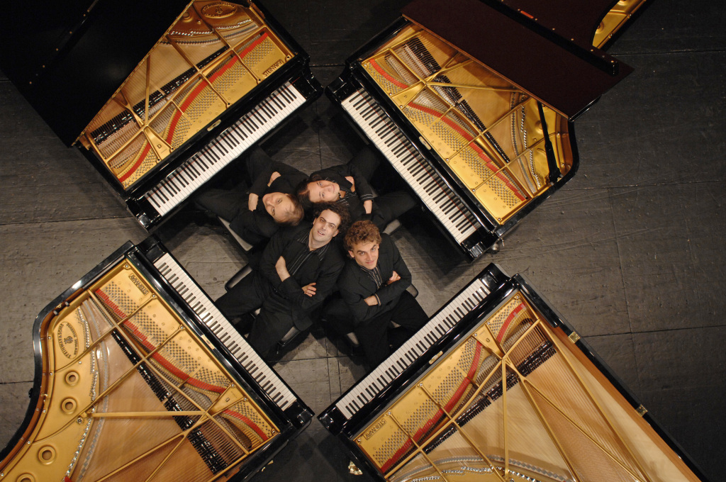 Das Gershwin Piano Quartet spielt am 8. September 2016 im Rahmen des Musikfest Stuttgart im Mercedes-Benz Museum. ; The Gershwin Piano Quartet plays September 8 within Musikfest Stuttgart at the Mercedes-Benz Museum;