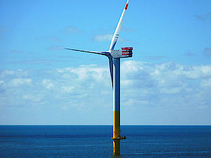 The first Senvion turbine of type 6.2M126 successfully installed on the wpd's Nordergründe 111 MW offshore wind farm