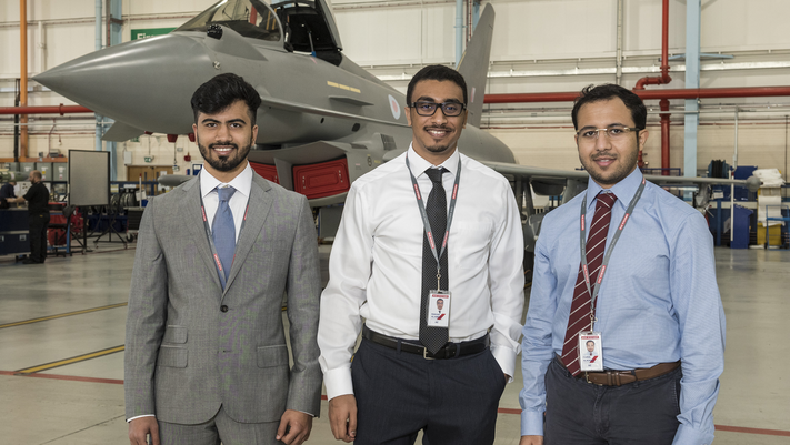 BAE Systems welcomes Emirati interns at their Military Air and Information business in the North West of England