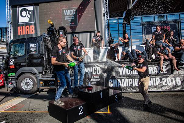 Hiab announces Tim Hansen from Denmark as the winner of the World Crane Championships