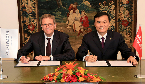 Volkswagen AG and Anhui Jianghuai Automobile sign MoU for joint development of all-electric vehicles in China