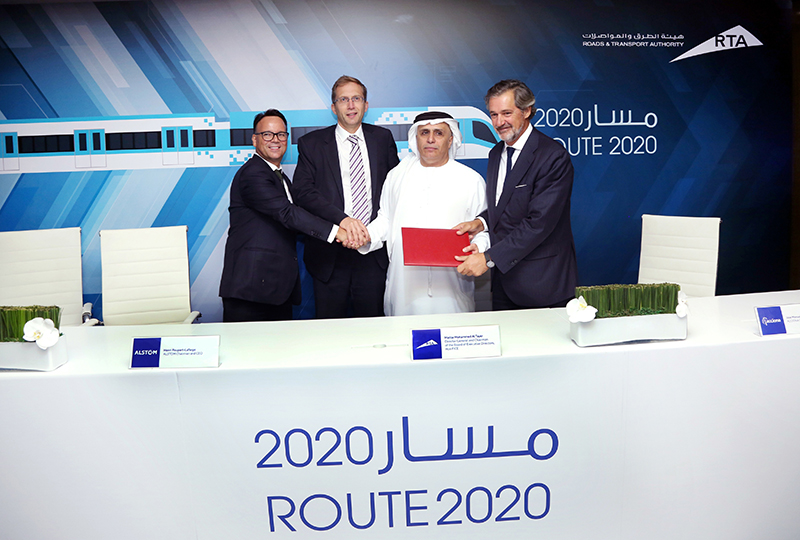 Alstom-led consortium Expolink to design and build the extension of Dubai's Red metro line