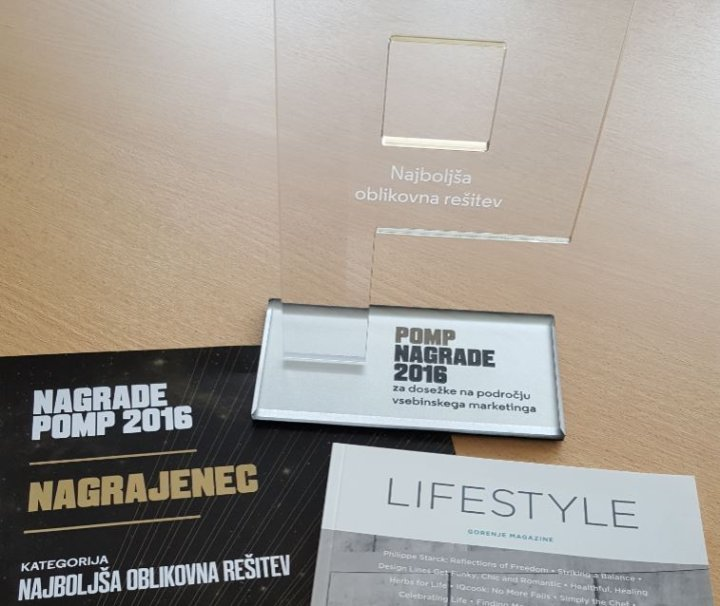 Gorenje Lifestyle Magazine nominated for two POMP awards for special achievements in content marketing