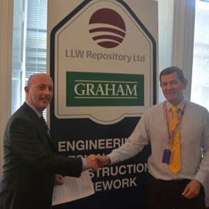 LLW Repository Ltd and partner GRAHAM Construction sign the second half of their four year Engineering, Design and Construction Framework