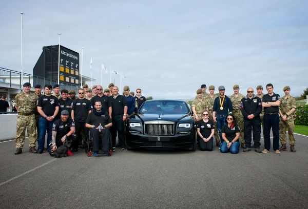 Rolls-Royce Motor Cars supported servicemen and women and their families at Mission Motorsport's annual invitational track day