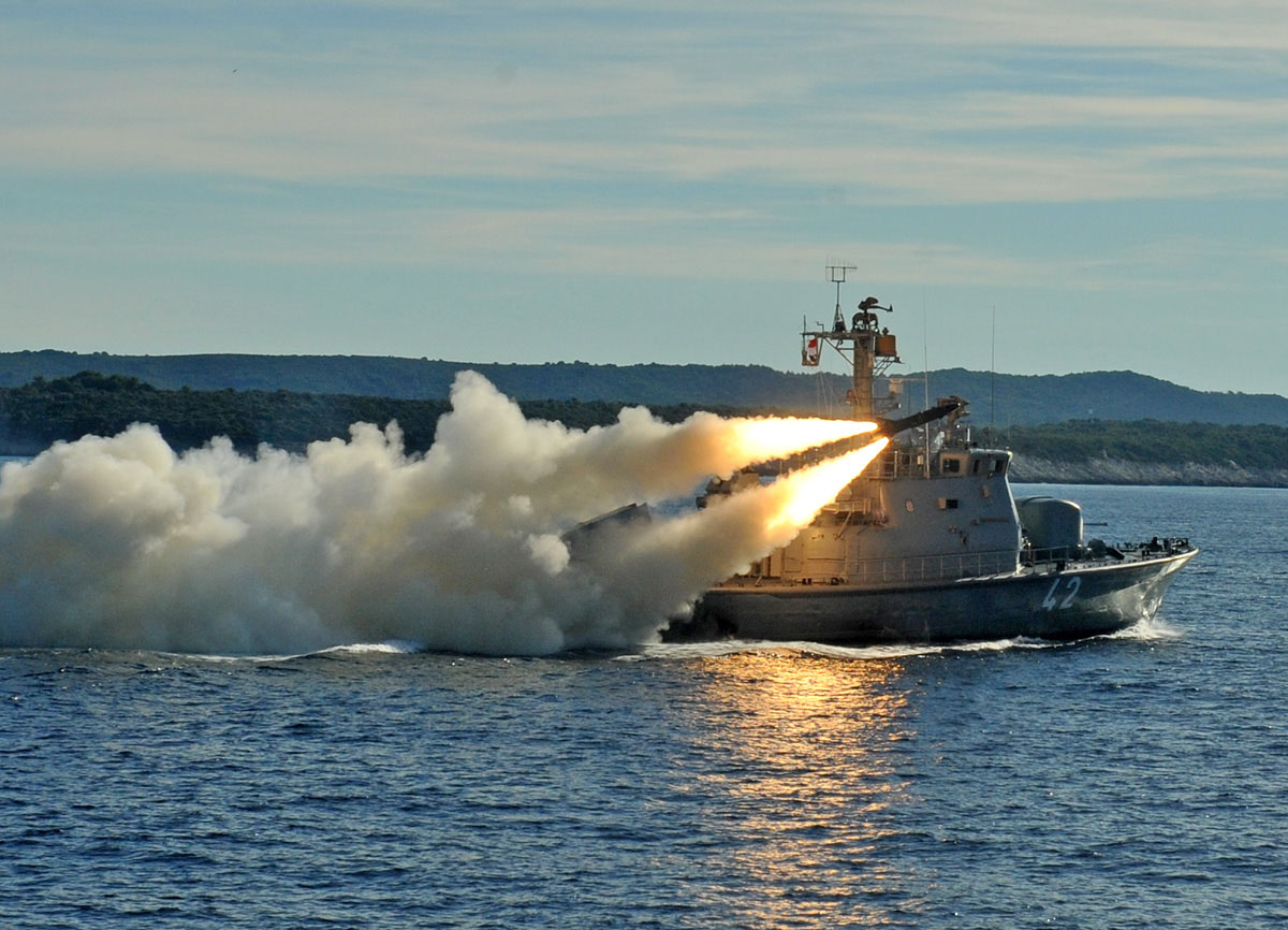 Saab: successful live firing of the RBS15 surface-to-surface missile system by the Croatian Navy