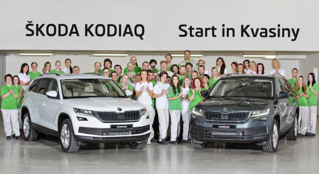 Series production of ŠKODA's new large SUV model KODIAQ begins in Kvasiny plant