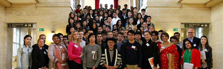 Students from six schools around the world attended international study event at University of London's Senate House