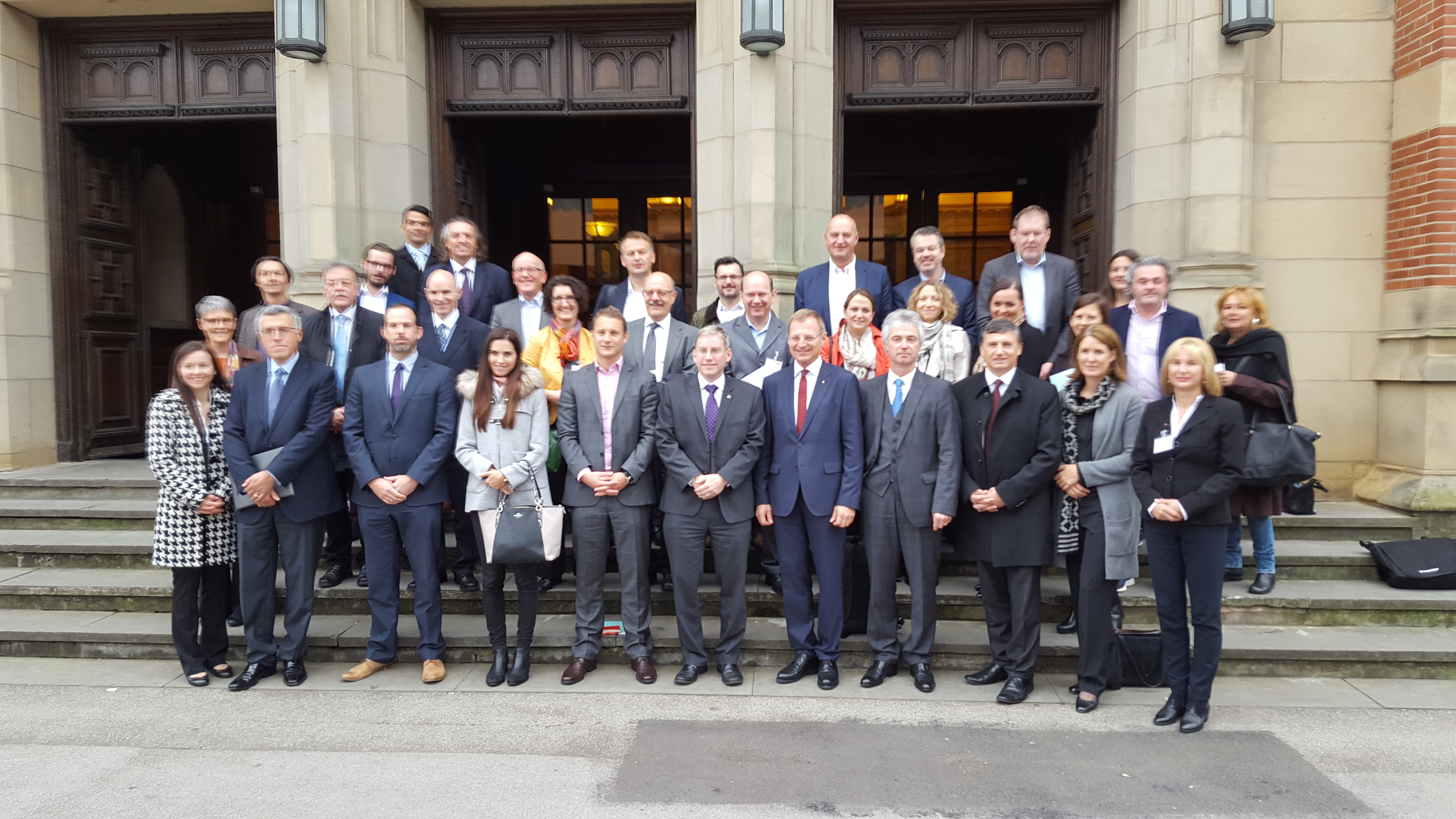 Upper Austrian Regional Government delegates on a visit to University of Birmingham's Interdisciplinary Research Centre for Materials Processing