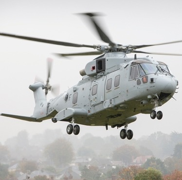 First AgustaWestland AW101 Merlin Mk4 successfully completed its maiden flight in southwest England