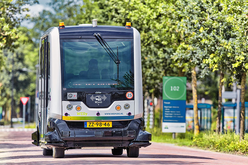 TU Delft: Self-driving WEpods vehicles to operate as bus service on the Wageningen University and Research campus