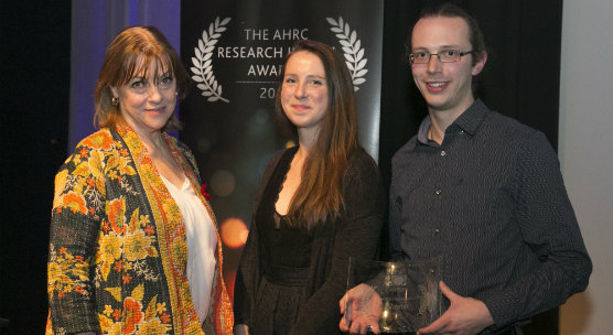 University of Dundee student Kieran Baxter won 2016 Arts and Humanities Research Council 'Research in Film Awards' Doctoral Award