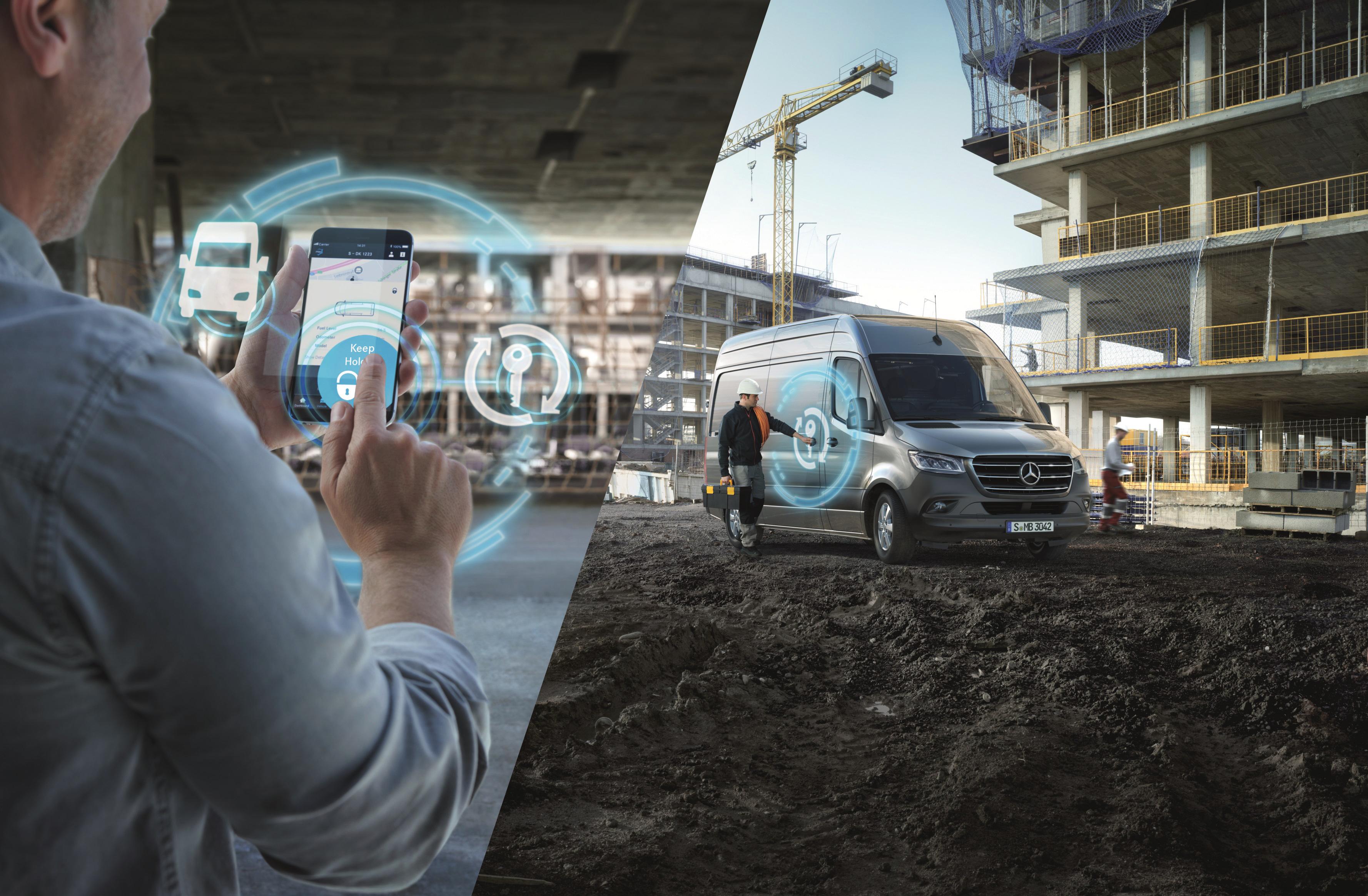 a050ee9ef2 Mercedes PRO startet digitale Services für neuen Mercedes-Benz Sprinter.  Mercedes PRO launches digital services for new Mercedes-Benz Sprinter.