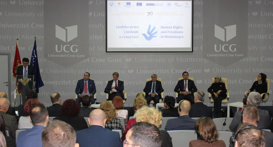 OSCE-supported conference on the occasion of International Human Rights Day in Podgorica, Montenegro